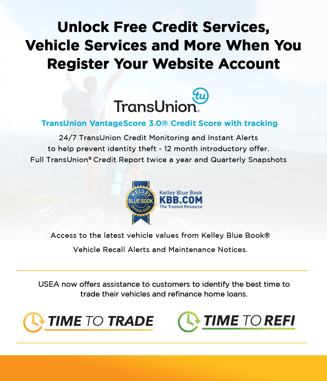 Instant Alerts From Transunion Free Kelley Blue Book Trade In Value Integrated With Your Enrolled Vehicles Service Recall Edmunds